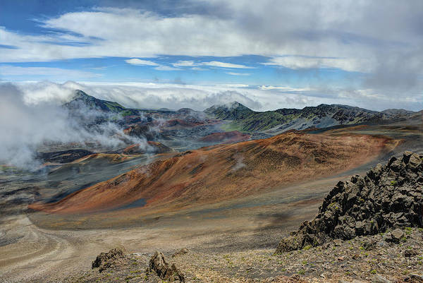 Photograph - Crater At Haleakala by Bill Dodsworth