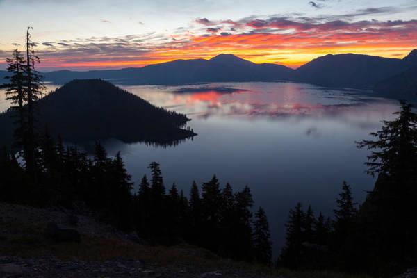 Crater Lake Np Photograph - Crater Lake Dawn by Wolfgang Woerndl