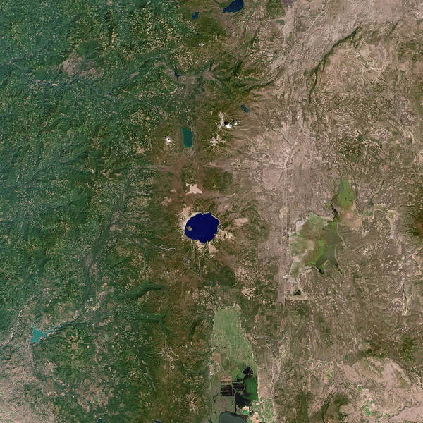 Volcanic Craters Photograph - Crater Lake by Nasa/science Photo Library