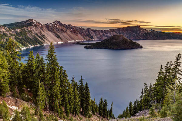 Photograph - Crater Lake National Park Sunrise by Pierre Leclerc Photography