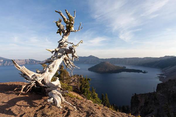 Crater Lake Np Photograph - Crater Lake Np by Wolfgang Woerndl