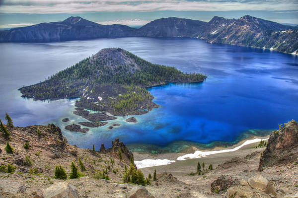 Photograph - Crater Lake Oregon by Pierre Leclerc Photography
