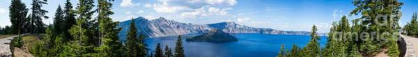 Crater Lake Np Photograph - Crater Lake Panorama 1 by Dan Hartford