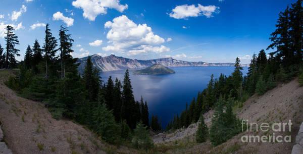 Crater Lake Np Photograph - Crater Lake Pnorama - 2 by Dan Hartford