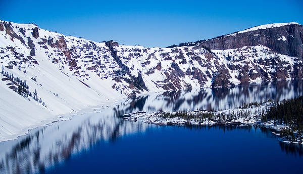 Crater Lake Np Photograph - Crater Lake Reflections by Kunal Mehra