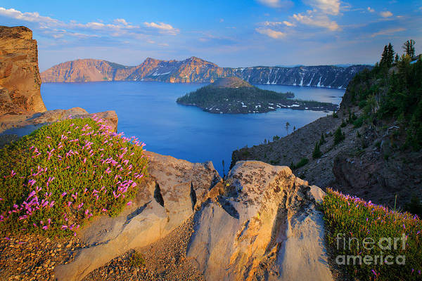 Volcanic Craters Photograph - Crater Lake Rim by Inge Johnsson