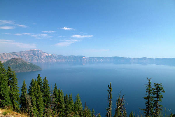 Crater Lake National Park Photograph - Crater Lake Shrouded In Smoke by David R. Frazier
