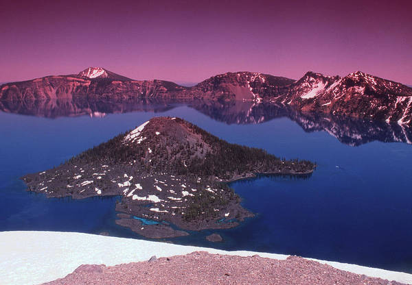 Volcanic Craters Photograph - Crater Lake by Tony Craddock/science Photo Library