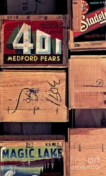 Photograph - Crates Of Pears by Jeff Breiman