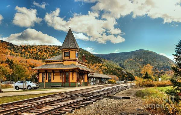 Photograph - Crawford Notch Conway Scenic Railroad Depot by Adam Jewell
