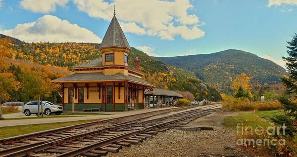 Photograph - Crawford Train Depot - New Hampshite by Adam Jewell