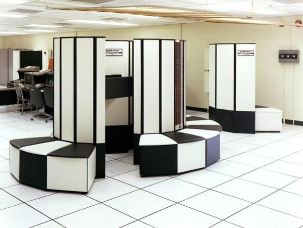 Wall Art - Photograph - Cray X-mp Supercomputer by Lawrence Livermore National Laboratory/ Science Photo Library