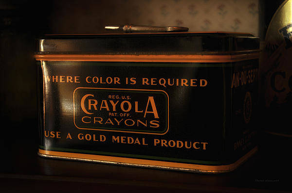 Wall Art - Photograph - Crayola Antique Metal Box by Thomas Woolworth