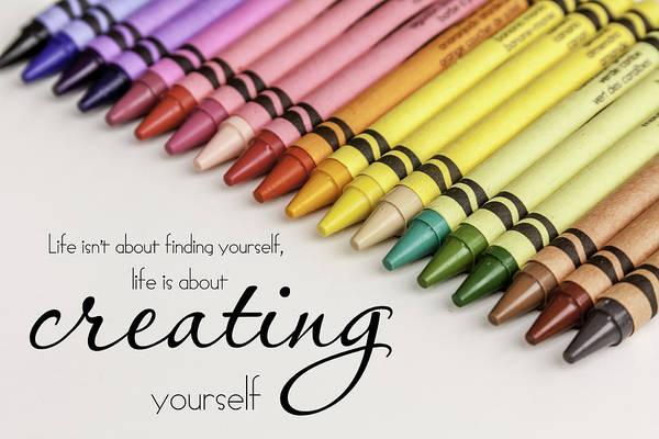 Photograph - Crayon Rainbow by Teri Virbickis