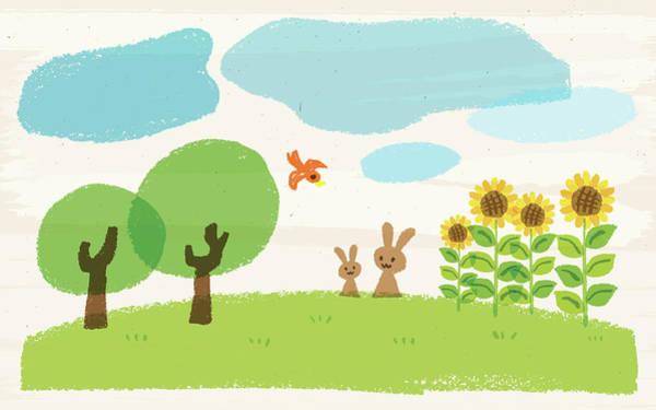 Pencil Drawing Digital Art - Crayon Summer by Taichi k