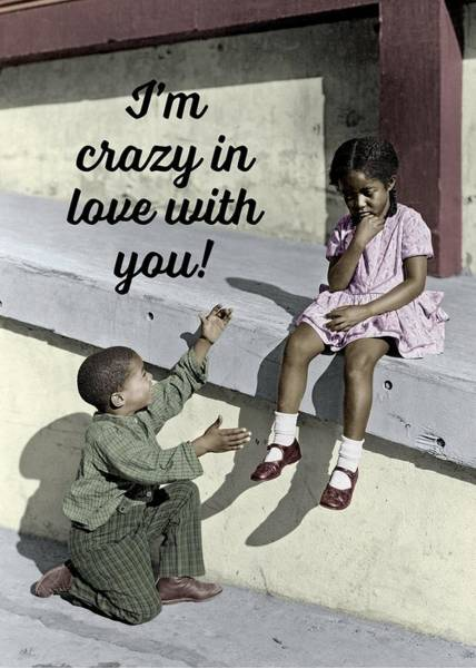 Wall Art - Photograph - Crazy About You Greeting Card by Everett