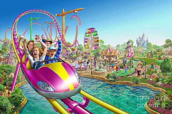Teenager Digital Art - Crazy Coaster by MGL Meiklejohn Graphics Licensing