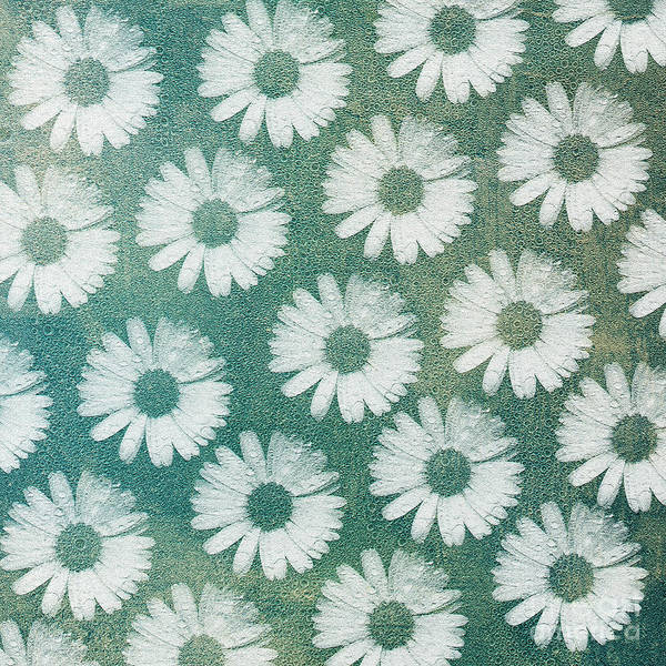 Digital Art - Crazy Daisy Square by Andee Design