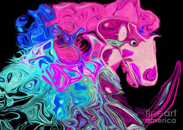 Digital Art - Crazy Horse 4 by Andee Design
