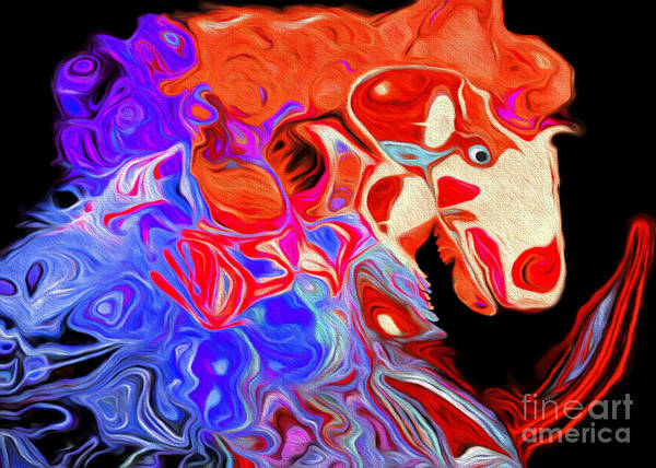 Digital Art - Crazy Horse 5 by Andee Design