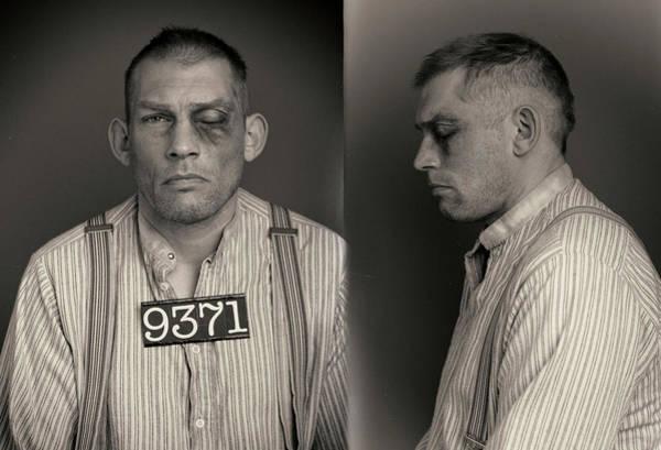 Mug Photograph - Crazy Jake Wanted Mugshot by Nick Dolding