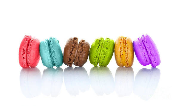 Flavours Wall Art - Photograph - Crazy Macarons Horizontal by Delphimages Photo Creations