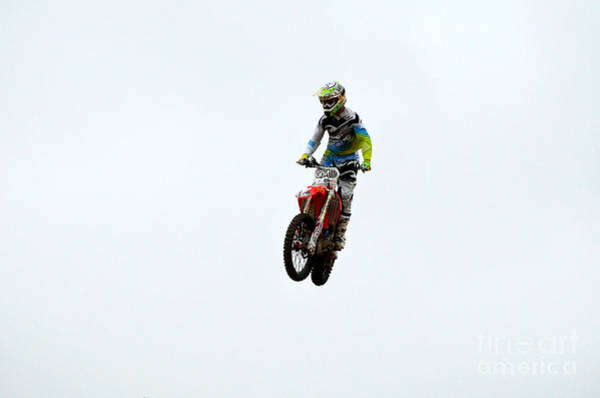 Dirtbike Photograph - Crazy Motocross by DejaVu Designs