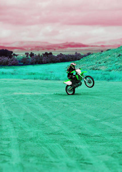Dirtbike Photograph - Crazy Rider by Lisa Holland-Gillem