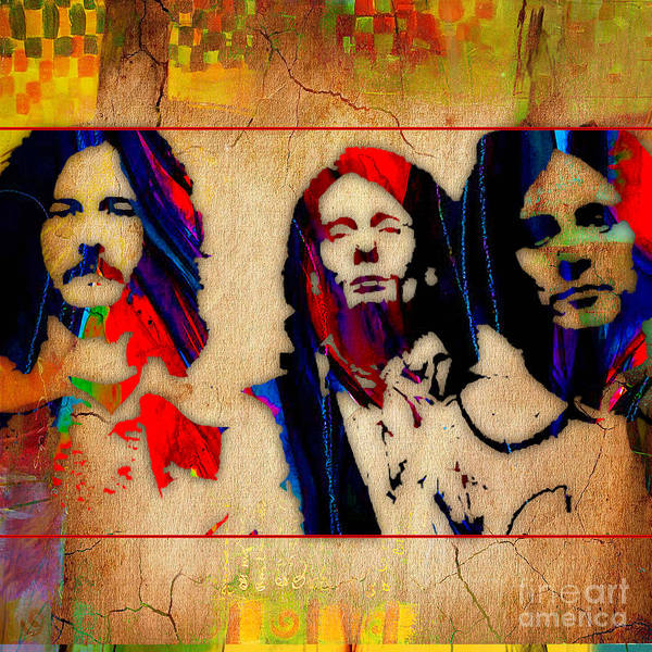Wall Art - Mixed Media - Cream Eric Clapton Jack Bruce Ginger Baker by Marvin Blaine