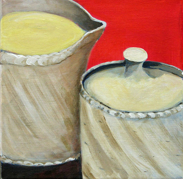 Wall Art - Painting - Cream 'n Sugar by Barbara Lipkin