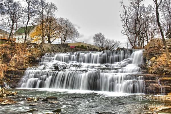 Photograph - Creamy Glenn Falls by Jim Lepard