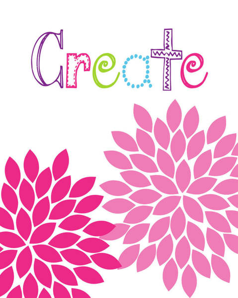 Create Painting - Create Flower by Tamara Robinson