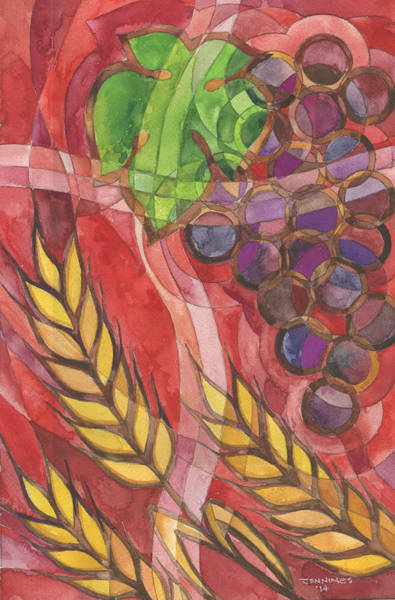 Bread And Wine Painting - Created For You by Mark Jennings