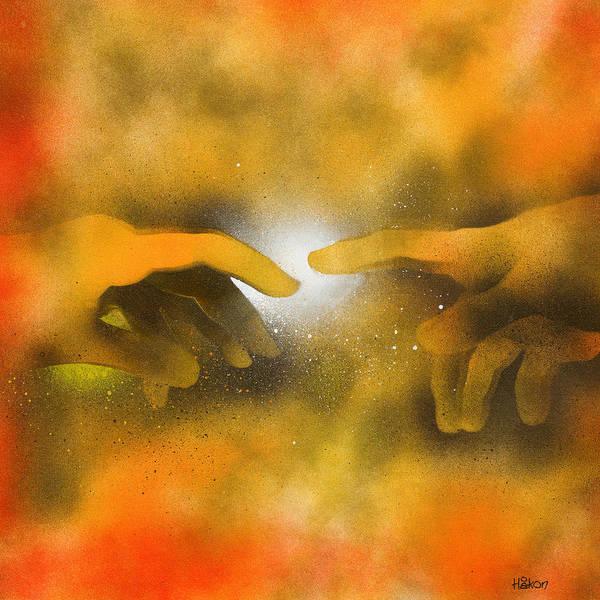 Sistine Wall Art - Painting - Creation by Hakon Soreide