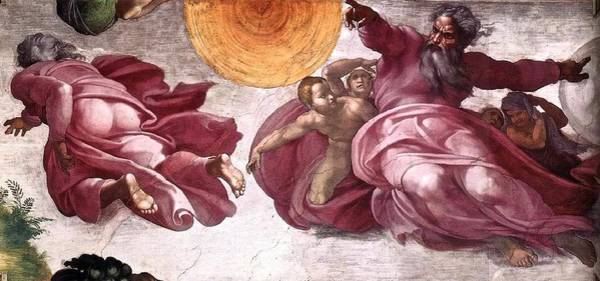 Apostolic Palace Wall Art - Painting - Creation Of The Sun The Moon And Plants by Michelangelo Buonarroti