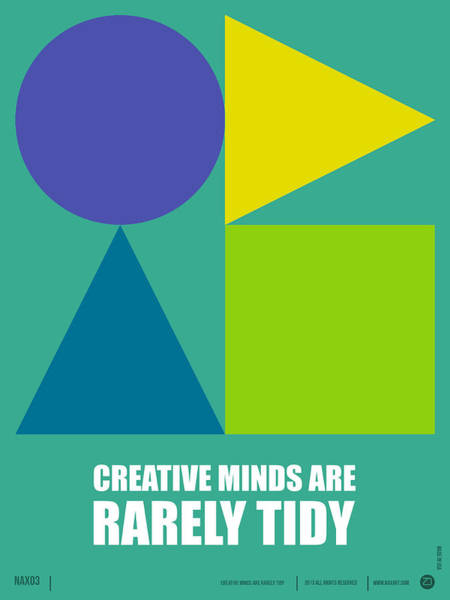 Quote Digital Art - Creative Minds Poster by Naxart Studio