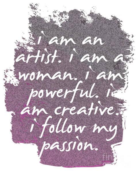 Feminist Digital Art - Creative Passionate Powerful Female Artist by L Bee