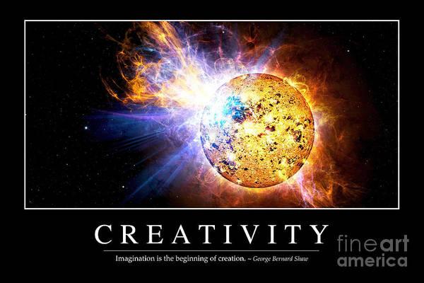 Digital Art - Creativity Inspirational Quote by Stocktrek Images