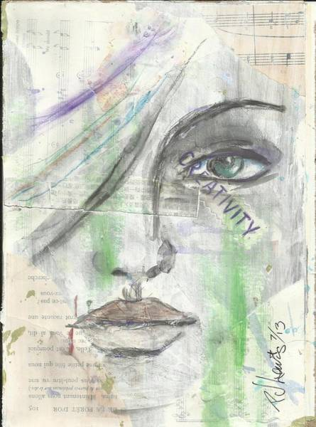 Mixed Media Drawing - Creativity by PJ Lewis