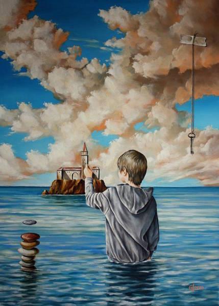 Magic Realism Painting - Creator Of Reality by Svetoslav Stoyanov