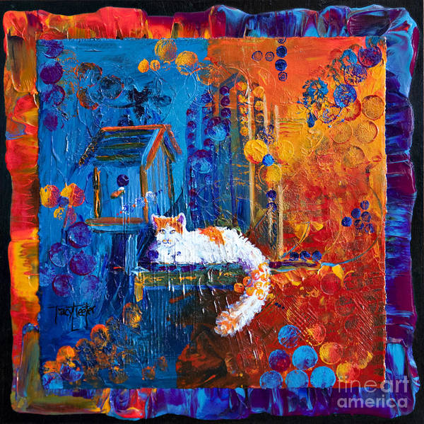 Birdhouse Painting - Creature Comforts by Tracy L Teeter