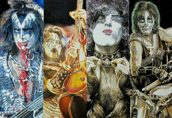 Peter Criss Wall Art - Painting - Creatures Of The Night by Kieran Hassey