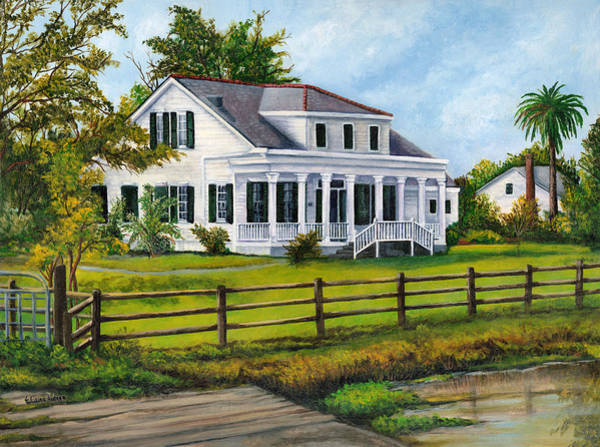Wall Art - Painting - Creedmoor Plantation by Elaine Hodges