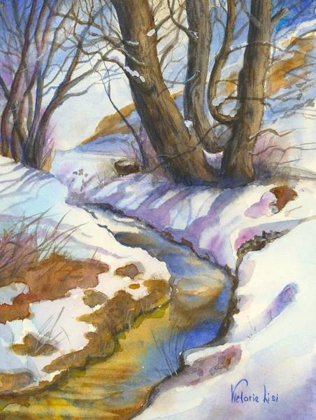 Painting - Creek At Bobcat Ridge by Victoria Lisi