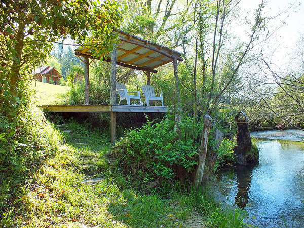 Photograph - Creekside Pavillion In Spring by Duane McCullough