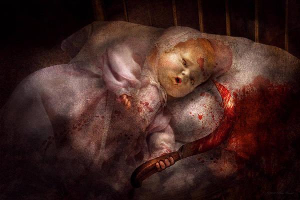 Digital Art - Creepy - Doll - Night Terrors by Mike Savad