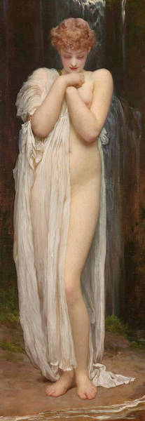 Allegory Wall Art - Painting - Crenaia The Nymph Of The Dargle by Frederic Leighton