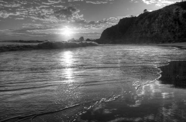 Photograph - Crescent Bay Sunset Black And White by Cliff Wassmann
