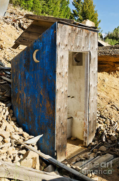 Photograph - Crescent Moon Outhouse by Sue Smith