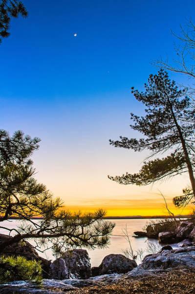 Lake Winnipesaukee Wall Art - Photograph - Crescent Moon Sunset by Robert Clifford